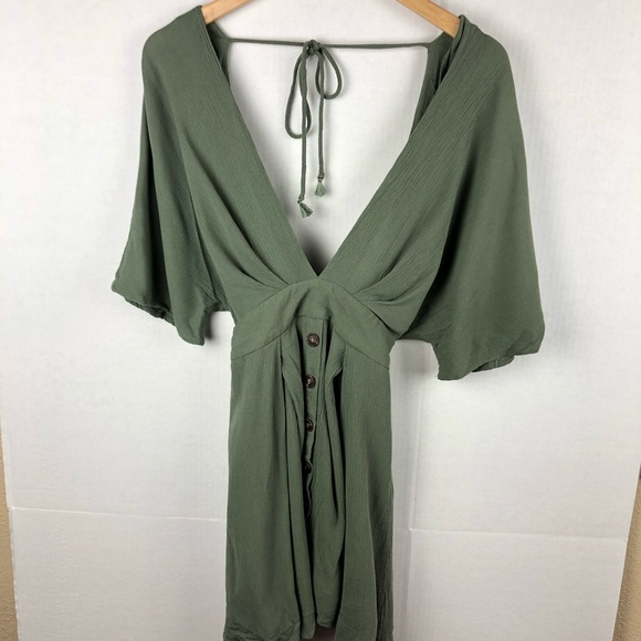 Windsor Dresses & Skirts - Windsor Olive Green Boho Mini Dress Small